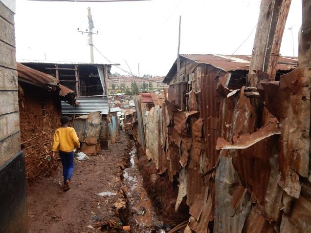 street in kibera